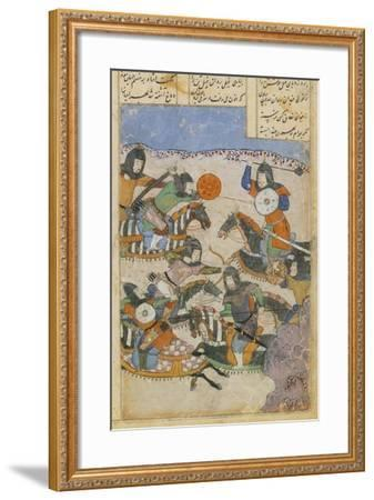 Scene of Battle Between Knights, Miniature from the Persian Tragic Romance of Khosrow and Shirin--Framed Giclee Print