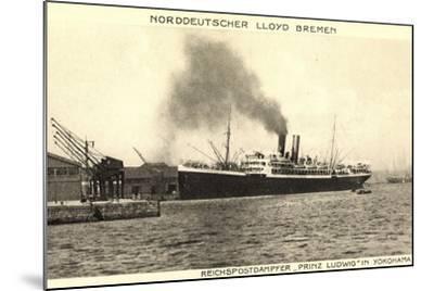 Yokohama Japan, Lloyd Bremen, Dampfer Prinz Ludwig--Mounted Giclee Print