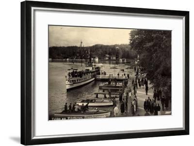 Velden Wörthersee Kärnten, Promenade, Dampfer Helios--Framed Giclee Print