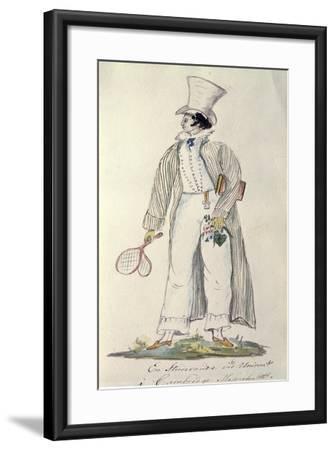 Student of Harvard University in 1820--Framed Giclee Print
