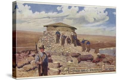 Postcard Depicting a Typical Blockhouse--Stretched Canvas Print