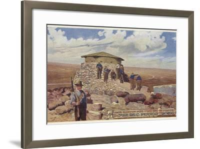 Postcard Depicting a Typical Blockhouse--Framed Photographic Print