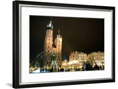 St. Mary's Basilica, Market Square, Krakow, Poland--Framed Photographic Print