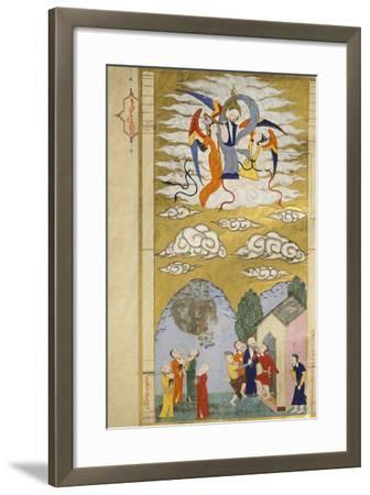 The Ascension, the Prophet Muhhamed Being Carried to Heaven by the Archangel Gabriel--Framed Giclee Print