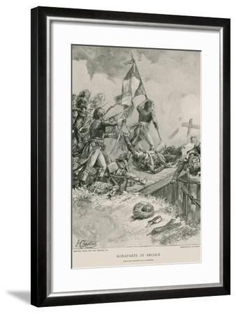 Bonaparte at Arcole--Framed Giclee Print