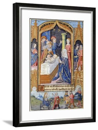 Presentation of Jesus in the Temple, Miniature from the Book of Hours Use of Poitiers--Framed Giclee Print