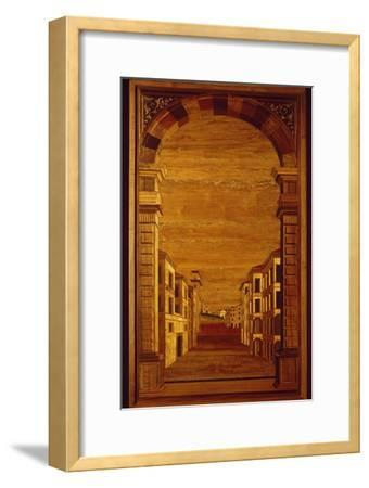 Wood Panel from Choir Stalls of Duomo or Cathedral Basilica of Assumption of Blessed Virgin Mary--Framed Giclee Print