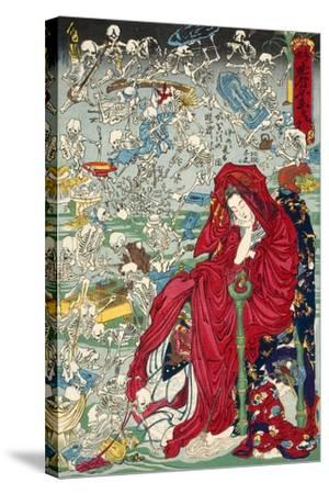 "Hell Courtesan, No. 9 in the Series ""Kyosai Rakuga""--Stretched Canvas Print"