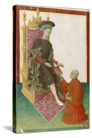 Scene Depicting the Court, Miniature, France 15th Century--Stretched Canvas Print