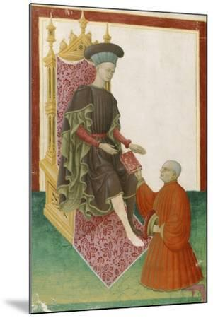 Scene Depicting the Court, Miniature, France 15th Century--Mounted Giclee Print