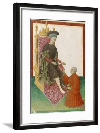 Scene Depicting the Court, Miniature, France 15th Century--Framed Giclee Print