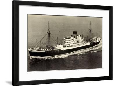 Glen Line Limited, M.V. Glenartney, Dampfschiff--Framed Giclee Print