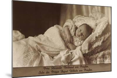 Prinz Alexander Ferdinand Von Preußen Als Baby--Mounted Giclee Print