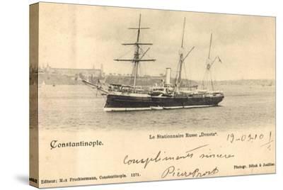Istanbul Türkei, Russ. Segelschiff Donetz Im Hafen--Stretched Canvas Print