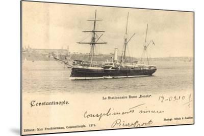 Istanbul Türkei, Russ. Segelschiff Donetz Im Hafen--Mounted Giclee Print