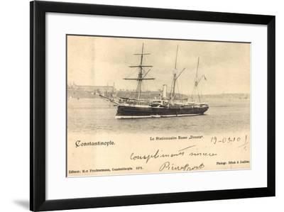 Istanbul Türkei, Russ. Segelschiff Donetz Im Hafen--Framed Giclee Print