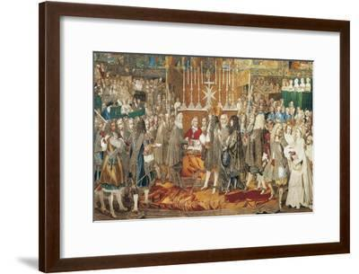 The Renewal of the Alliance Between France and Switzerland in Notre Dame in Paris--Framed Giclee Print