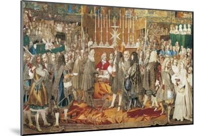 The Renewal of the Alliance Between France and Switzerland in Notre Dame in Paris--Mounted Giclee Print