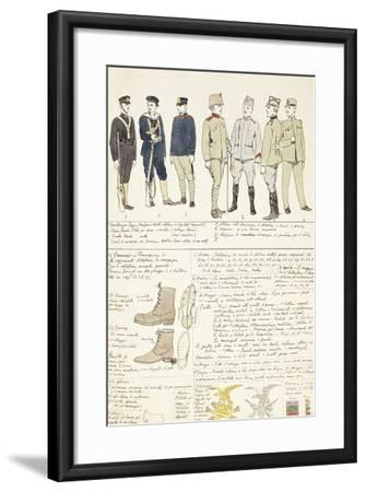 Uniform Variations of Kingdom of Italy, 1912--Framed Giclee Print