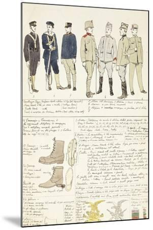 Uniform Variations of Kingdom of Italy, 1912--Mounted Giclee Print