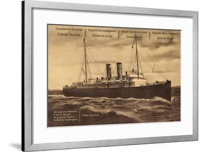 Ganzsachen Ostende, Paquebot Pieter Deroninck, 5C--Framed Giclee Print