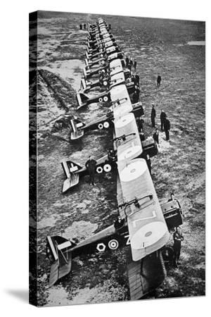British Fighter Squadron in France, 1918--Stretched Canvas Print