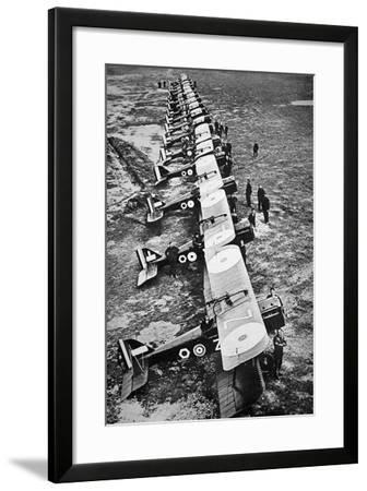 British Fighter Squadron in France, 1918--Framed Photographic Print