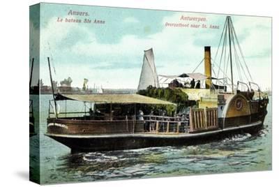 Antwerpen, Le Bateau Ste Anne, Fährschiff Charlotte--Stretched Canvas Print
