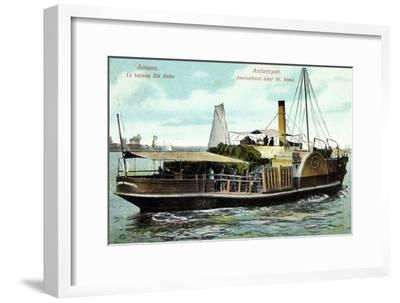 Antwerpen, Le Bateau Ste Anne, Fährschiff Charlotte--Framed Giclee Print