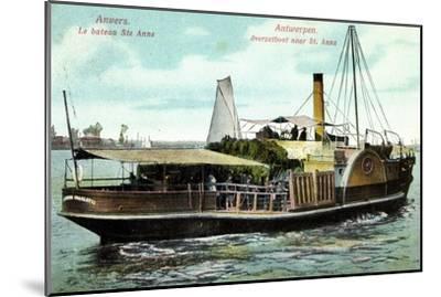Antwerpen, Le Bateau Ste Anne, Fährschiff Charlotte--Mounted Giclee Print