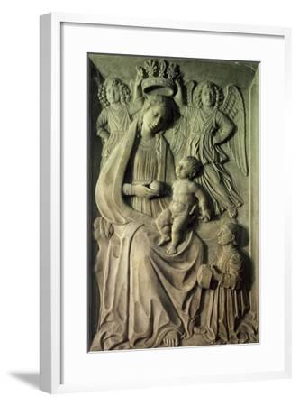 Madonna with Child, Bas-Relief of Cloister of Amalfi Cathedral, Campania, Italy--Framed Giclee Print