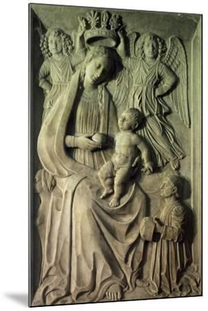 Madonna with Child, Bas-Relief of Cloister of Amalfi Cathedral, Campania, Italy--Mounted Giclee Print