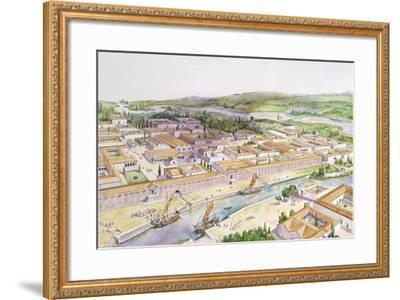 Italy, Friuli-Venezia Giulia, Reconstruction of Port of Aquileia--Framed Giclee Print