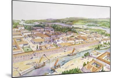 Italy, Friuli-Venezia Giulia, Reconstruction of Port of Aquileia--Mounted Giclee Print