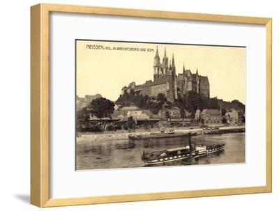 Meißen Sachsen, Kgl. Albrechtsburg, Dampfer Wettin--Framed Giclee Print