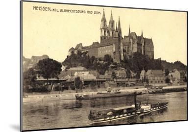 Meißen Sachsen, Kgl. Albrechtsburg, Dampfer Wettin--Mounted Giclee Print