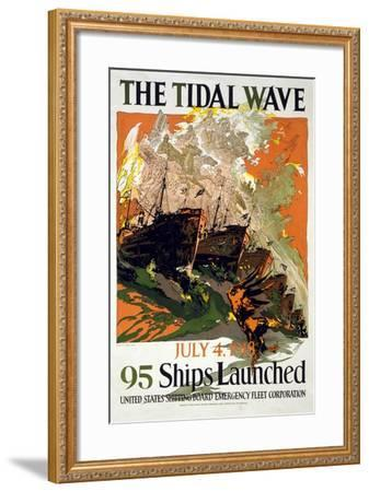 The Tidal Wave, 1918--Framed Giclee Print