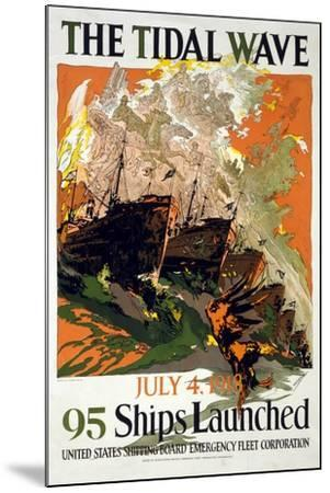 The Tidal Wave, 1918--Mounted Giclee Print
