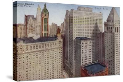 Financial District, New York City, USA--Stretched Canvas Print