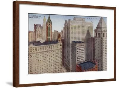 Financial District, New York City, USA--Framed Photographic Print