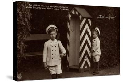 Die Söhne Des Kronprinzenpaares, Zollhaus, Npg 4778--Stretched Canvas Print