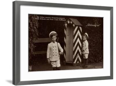 Die Söhne Des Kronprinzenpaares, Zollhaus, Npg 4778--Framed Giclee Print