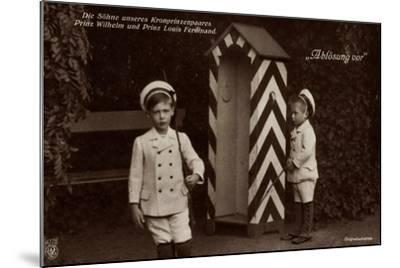 Die Söhne Des Kronprinzenpaares, Zollhaus, Npg 4778--Mounted Giclee Print