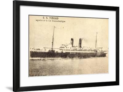 French Line, Cgt, Dampfschiff S.S. Timgad--Framed Giclee Print
