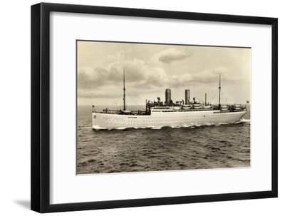Norddeutscher Lloyd Bremen, Dampfer Sierra Cordoba--Framed Giclee Print