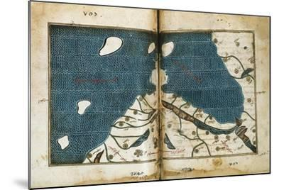 World Map from Treatise of Geography, Circa 1099-1165, Manuscript--Mounted Giclee Print