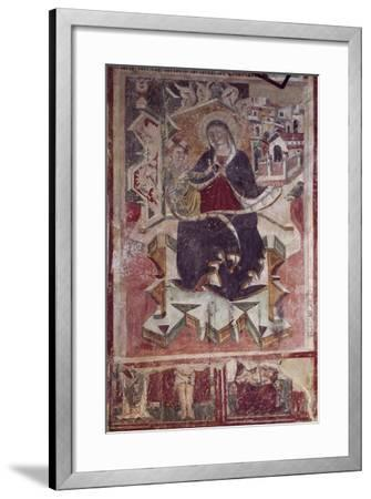 Madonna and Child Fresco in the Church of St Francis, Amatrice, Italy--Framed Giclee Print