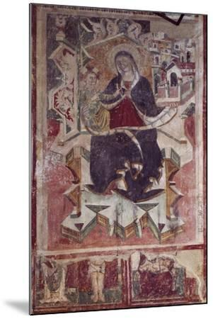 Madonna and Child Fresco in the Church of St Francis, Amatrice, Italy--Mounted Giclee Print