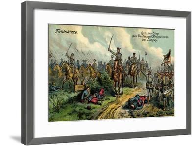 Künstler Feldskizze, Großer Sieg, Kronprinz, Longwy--Framed Giclee Print