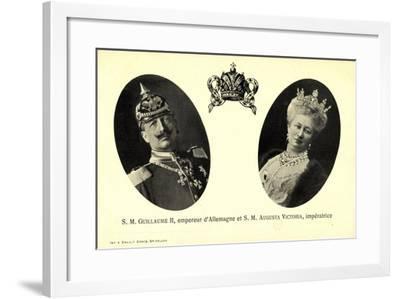 Kaiser Wilhelm Ii, Auguste Victoria, Empereur--Framed Giclee Print